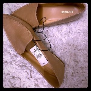 Tan flats BRAND NEW from Express